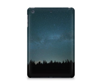 Stars over the forest trees iPad case, nature, space, Apple iPad hard shell case, ipad Mini, ipad Air, iPad 2,3,4