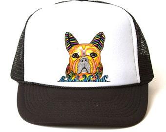 Trucker hat with custom design by Malu Castro