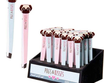 Pug dog tweezers gift stocking filler beauty skincare for puggles and dog lovers! Pink or blue