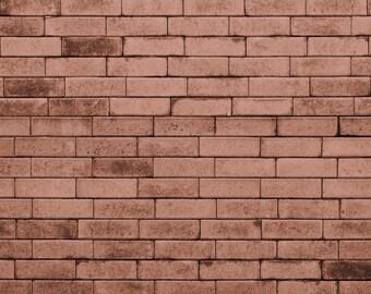 Vinyl 5ft x 7ft Photography Backdrop, Brick Wall Backdrop - Blush