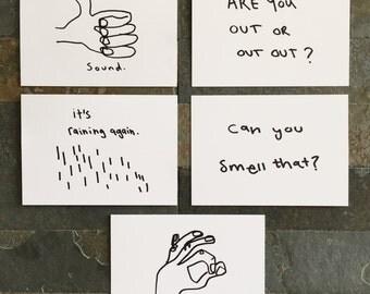 Manchester illustration postcards