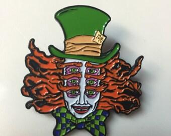 Shpongle Mad Hatter Hat Pin