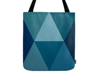 Blue tote bag Blue bag Blue canvas tote bag shopping bag shopping canvas bag gift for her Blue shoulder bag Blue canvas bag shopping tote
