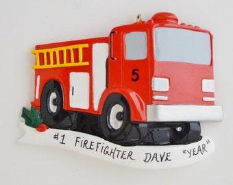 Fire truck Personalized Ornament