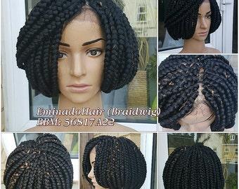 Braided Wig, BOB braids. Black/30. Braidwig, Braidswig