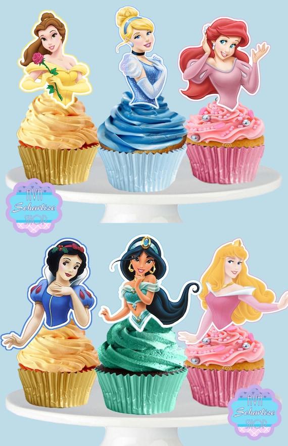 PRINTABLE Disney Princess Cupcake Toppers Cupcake Picks