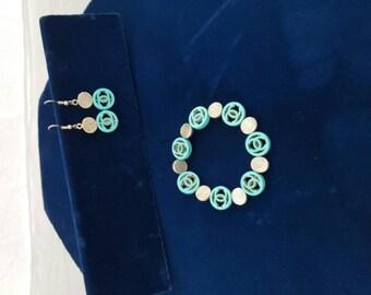 Nice bracelet set.Available separately earrings 3.00 bracelet  4.00.