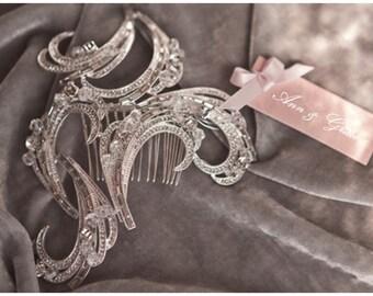 Crystal Hair Comb,  Bridal Headpiece, Rhinestone Wedding Accessories