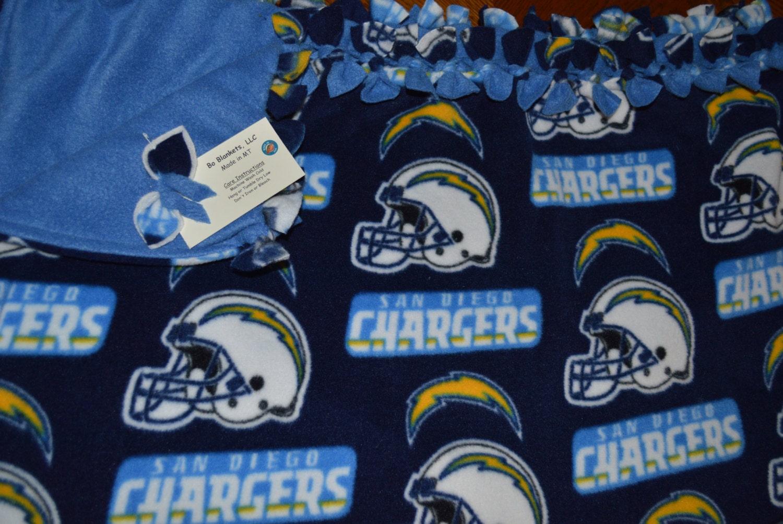 San Diego Chargers Fleece Bo Blanket 57 X 68