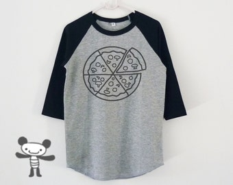 Pizza tshirt toddlers children raglan shirt for kids boy girl clothing gift ideas