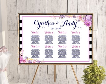 Find your Seat Chart, Printable Wedding Seating Chart, Wedding Seating Poster, Wedding Seating Sign, Wedding Seating Board WD79 WC69