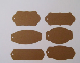 30 Die Cuts Assorted Tags Cardstock for Paper crafting