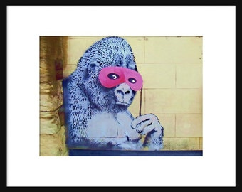 Gorilla Mask - Banksy - Graffiti Art - Street art – Print - Poster