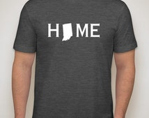 Indiana home shirt, Indiana shirt,Indiana native Unisex super soft Indiana shirt home state shirt