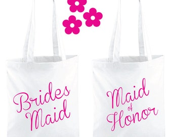 Bridesmaid Tote Bag. Maid Of Honor Tote Bag. Wedding Bag. Bridesmaid Gift. Wedding Gift. Maid Of Honor Gift Bag. Thank You Gift Wedding Tote