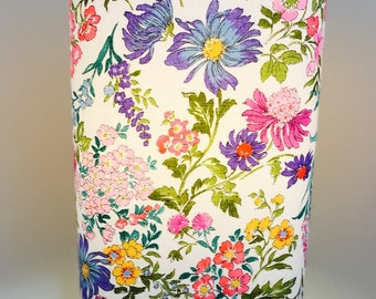 Lamp Shade - White with colourful floral print
