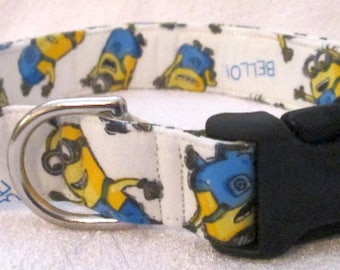 1in Large Minions Themed Dog Collar