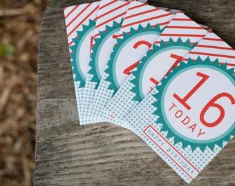 Birthday Age Blank Greeting Cards