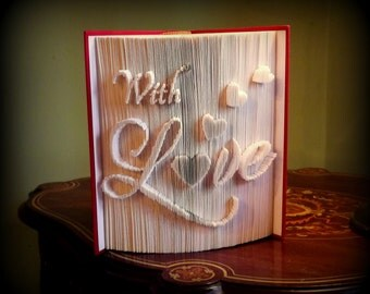 With Love Book Folding Pattern