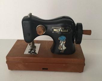 Vintage toy, HOLLY HOBBY sew machine, Vintage sew Machine toy, 70's toy