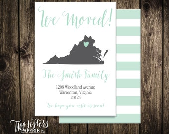 We Moved Announcement - Printable Moving Announcement