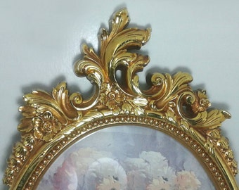 Ornate Baroque Picture Frame / Oval Baroque Frame/ Shabby Chic Frame SPRING SALE!