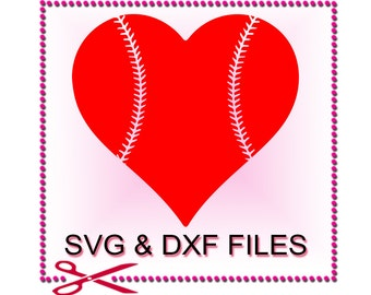 Baseball Heart SVG Files for Cutting Love Cricut Designs- SVG Files for Silhouette - Instant Download