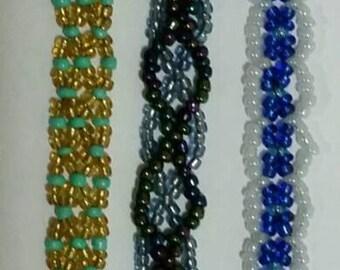 Netted Beaded Bracelets
