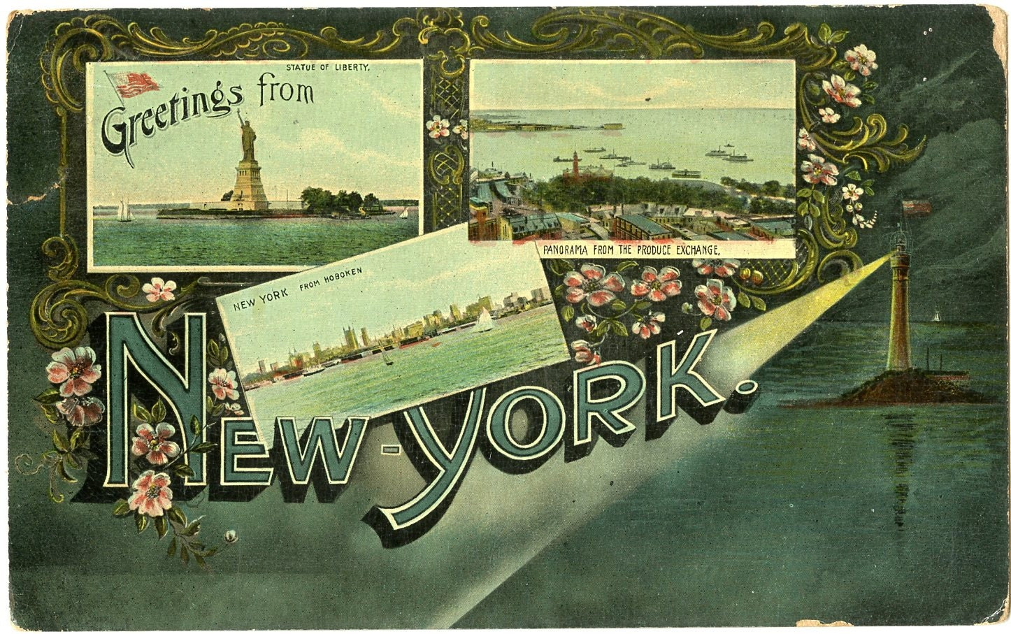1911 greetings from new york antique postcard collectible vintage 1911 greetings from new york antique postcard collectible vintage memorabilia ephemera kristyandbryce Images