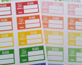 Class Labels // Bolds and Pastels (Set of 24) Item #134