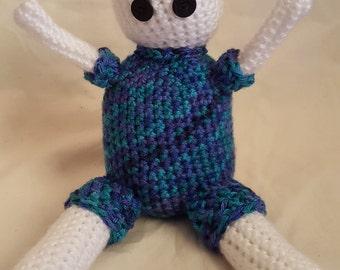 "Crochet Amigurumi ""Creepy"" Kid, PJ"