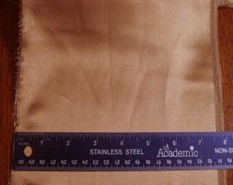 100% Silk Charmeuse - Plain - Toffee