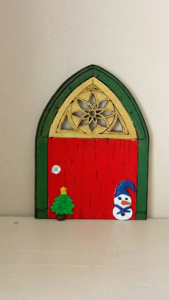Christmas fairy door elf door santa 39 s door santa 39 s for Elf door decoration
