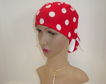 Ponytail -Handmade-Medical Scrub-Nurses Cap-Woman Hat-100% Cotton.