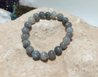 Labradorite Bracelet, 8mm Stretch