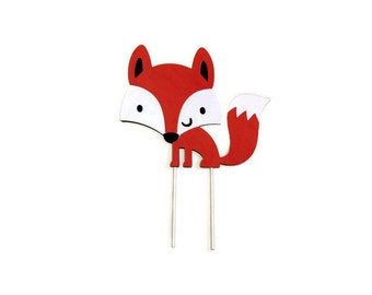 Fox cake topper | Etsy | {Französische küche comic 44}