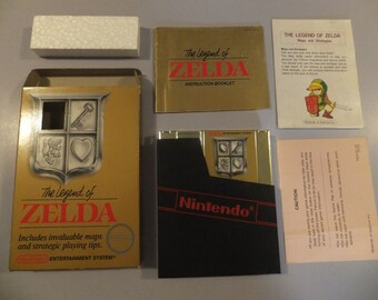 The Legend of Zelda Original NES Nintendo Vintage Video Game Complete