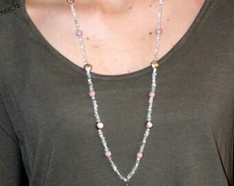 Long Arrowhead Beaded Necklace