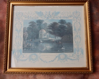A lovely Vintage Picture and Frame, Picture Frame, Shabby chic.