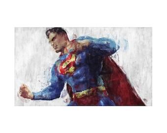 Superman Rug, 3 Designs, Hero Character, DC Comics, Geek Bedding, Children