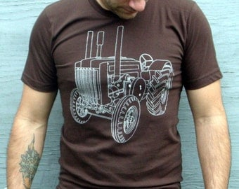 TRACTOR T-shirt - Clothing - Mens Tshirts | Tshirt for Men - John Deere Tractor Tee - Small, Medium, Large, XL,  Xxl - Brown - Gift For Him
