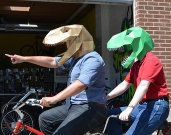 T-Rex Paper Mask Pre-Cut Kit - Make Your Own Dinosaur! | Paper Mask | DIY Mask | Dinosaur Mask | Halloween Mask
