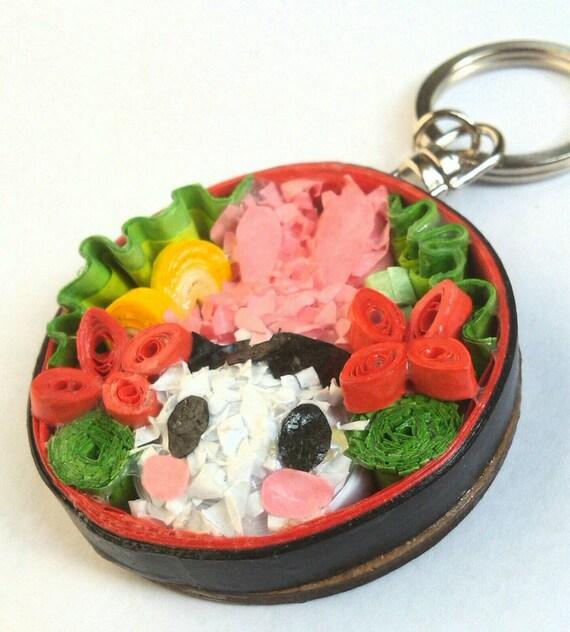 Items Similar To Bento Box, Japanese, Japan, Keychain, Paper Art, Birthday Gift, Kids Gift