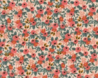Cotton and Steel - Rifle Paper Co - Les Fleurs - Rosa in Peach