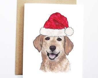 Christmas Card - Lab, Dog Christmas Card, Cute Christmas Card, Holiday Card, Xmas Card, Seasonal Card, Christmas Card Set