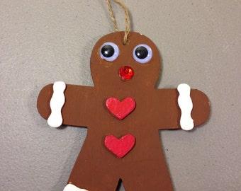 Gingerbread Man Ornament, Christmas Decoration, Holiday Decoration, Cookies, Christmas Tree Ornament