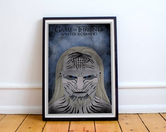 Game of Thrones Winter is Coming White Walker Print Poster