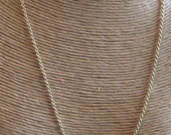 14KT Gold Ladies Rope Chain