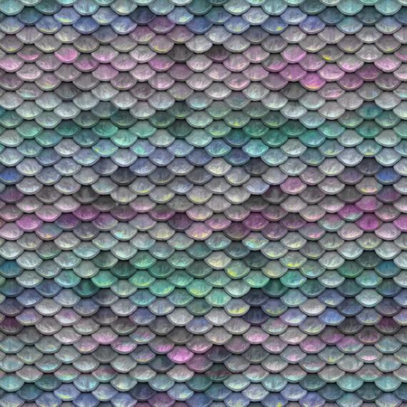 SWIM Fabric: Mermaid Scales UV 50 Swim Fabric. Sold By The