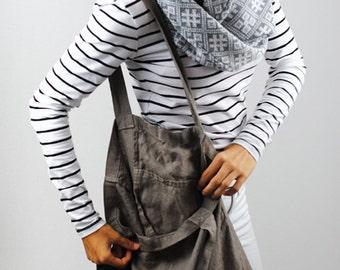 Linen bag, reusable linen shopping bag, linen tote bag, linen beach bag, linen bag with a pocket